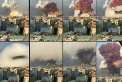 Clip quay chậm vụ nổ kinh hoàng - sự trỗi dậy 'làn sóng hủy diệt' tại Beirut, Lebanon