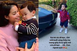 Phạm Hương đưa con trai đi học mẫu giáo ở Mỹ, dân mạng nghi 'có gì đó sai sai'