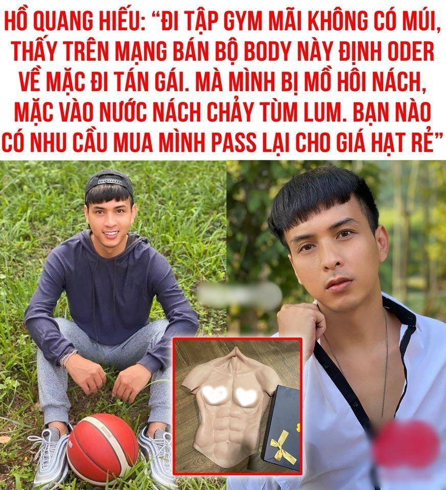 Hồ Quang Hiếu rao bán áo silicon để fake body 6 múi cực mặn-3