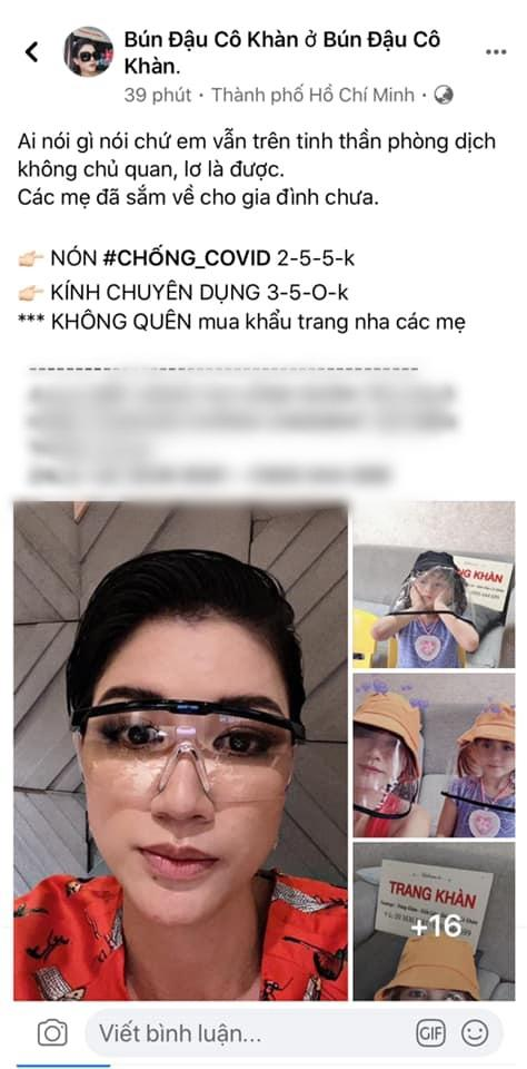 Trang Trần bị nghi đội giá bán nón và kính chống dịch Covid-19 cao gấp 10 lần-1
