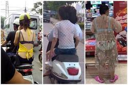Những cô gái khoe nội y dưới manh áo mỏng lại còn quên 'cài dây an toàn'