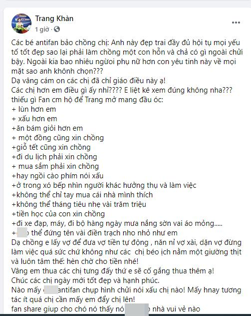 Bị chê không xứng với chồng Việt kiều, Trang Trần gạch 14 đầu dòng chát chúa đáp trả-1