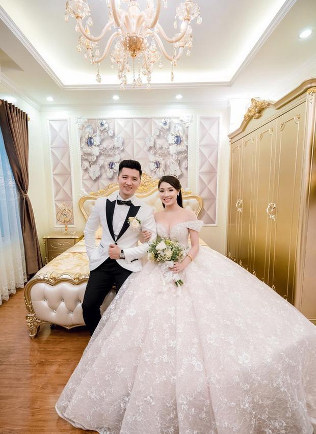 Trước khi bị phụ bạc, Âu Hà My từng hóa công chúa trong đám cưới với 3 bộ váy đính kim cương giá 1 tỉ đồng-3