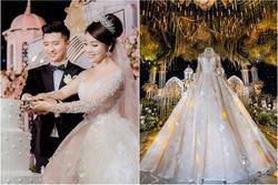 Trước khi bị phụ bạc, Âu Hà My từng hóa công chúa trong đám cưới với 3 bộ váy đính kim cương giá 1 tỉ đồng