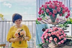 Cô giáo yoga coi cắm hoa như hành thiền, chỉ cách cắm bình hồng ngoại, bông nào cũng đẹp 'bung lụa'