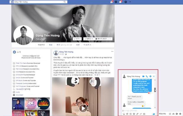 Tài khoản Facebook của hot girl Hàn tung bằng chứng từng nói chuyện với ViruSs, tiết lộ thời gian thả thính-3