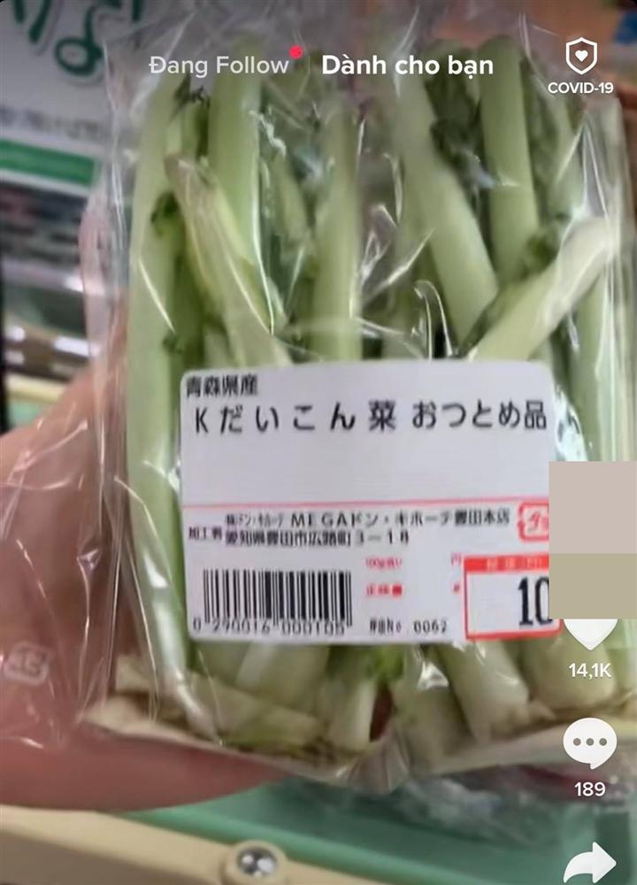Loại củ khi ở Việt Nam sẽ không ăn phần lá nhưng người Nhật Bản lại tận dụng đóng gói bày bán hẳn trong siêu thị-1