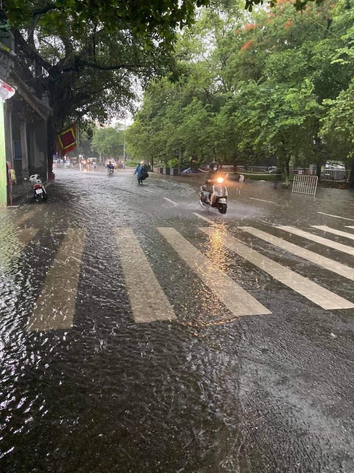 Trung tâm Hà Nội ngập lụt, đôn hoa nổi bềnh phềnh như lục bình vì mưa lớn-5
