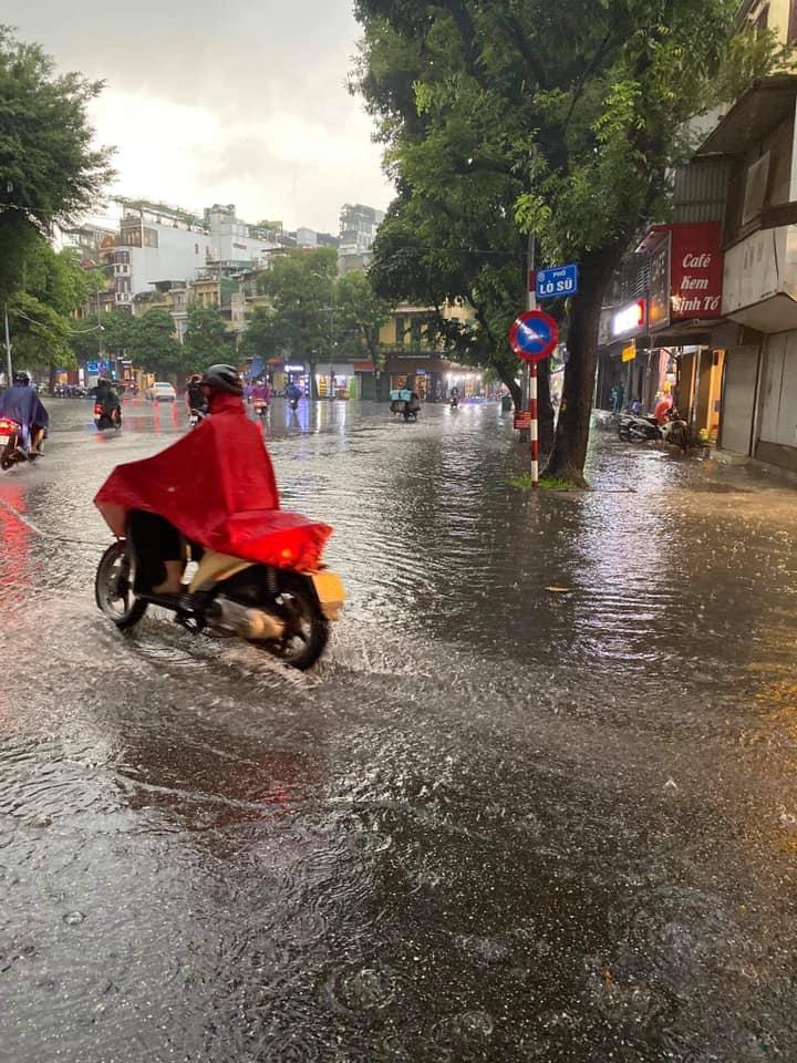 Trung tâm Hà Nội ngập lụt, đôn hoa nổi bềnh phềnh như lục bình vì mưa lớn-6