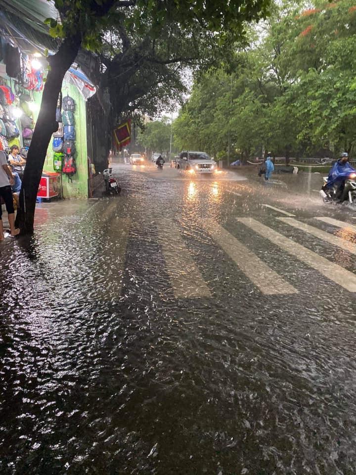 Trung tâm Hà Nội ngập lụt, đôn hoa nổi bềnh phềnh như lục bình vì mưa lớn-8