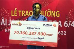 Thanh niên 9x Hà Nội trúng Jackpot hơn 70 tỷ đồng sau khi được báo mộng