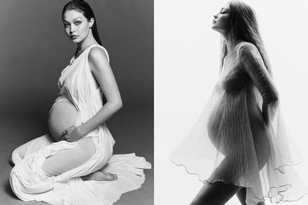 Gigi Hadid gây 'bão' top trend toàn cầu với bộ ảnh khoe bụng bầu