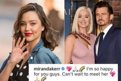 Miranda Kerr chúc mừng Orlando Bloom có con gái