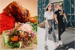 Ngọc Trinh cùng Vũ khắc Tiệp thưởng thức món cơm gà 'sang chảnh' tại nhà hàng 5 sao