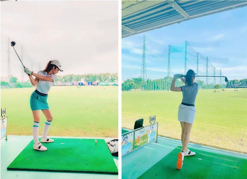 Ảnh con gái Jennifer Phạm chơi golf thượng lưu ở Hà Nội, phát hiện điểm đặc biệt ở cô bé-3