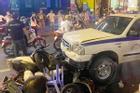 Vụ tai nạn liên hoàn ở phố Bùi Viện: Ôtô công an bị kẹt chân ga