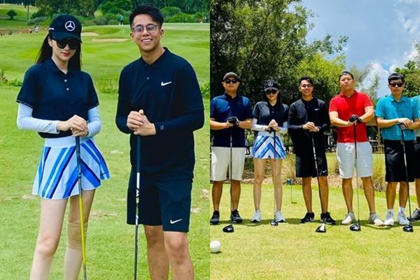 Hương Giang gây sốt với ảnh đánh golf cùng Matt Liu, lại còn ra mắt hội bạn thân đại gia