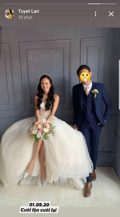 HOT: Người mẫu Tuyết Lan kết hôn lần 2 sau 7 tháng công khai ly hôn chồng cũ Việt Kiều?-1