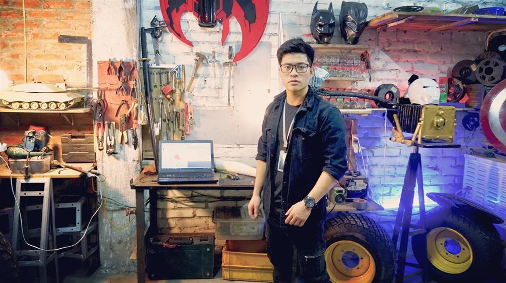 Nam sinh Đại học Kiến Trúc đầu tư 500 triệu bê siêu xe BATMAN từ phim ra đời thực-1