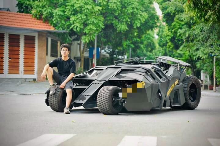 Nam sinh Đại học Kiến Trúc đầu tư 500 triệu bê siêu xe BATMAN từ phim ra đời thực-2