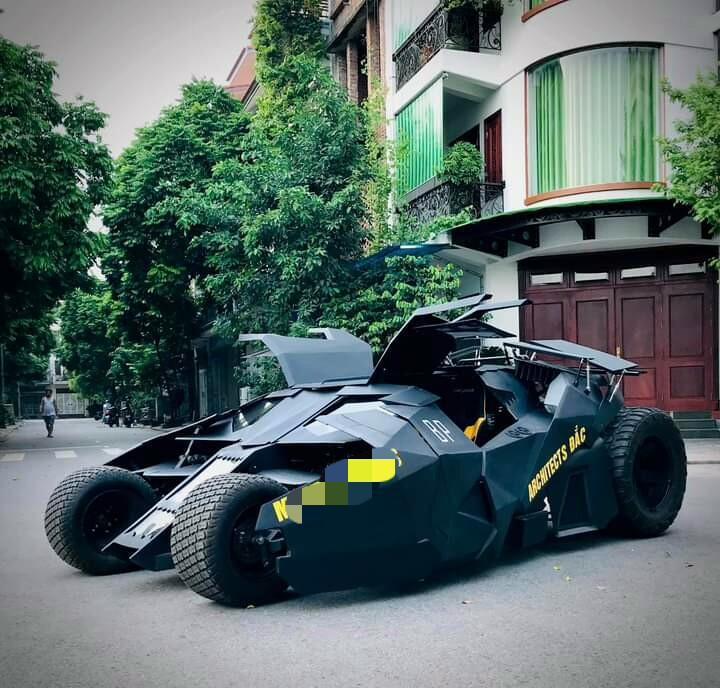 Nam sinh Đại học Kiến Trúc đầu tư 500 triệu bê siêu xe BATMAN từ phim ra đời thực-9