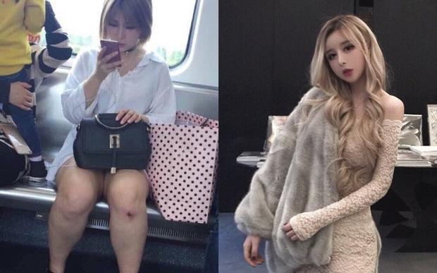 Hot girl xứ Trung 'rớt đài' khi bị bóc mẽ nhan sắc thật-7