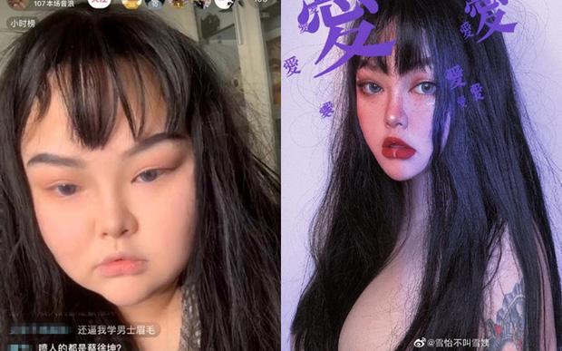 Hot girl xứ Trung 'rớt đài' khi bị bóc mẽ nhan sắc thật-8