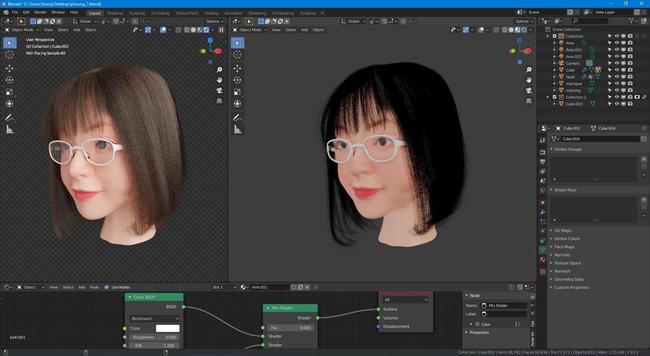Bị bố mẹ bắt ra mắt người yêu, trai ế thâm niên thiết kế bạn gái 3D y chang người thật-3