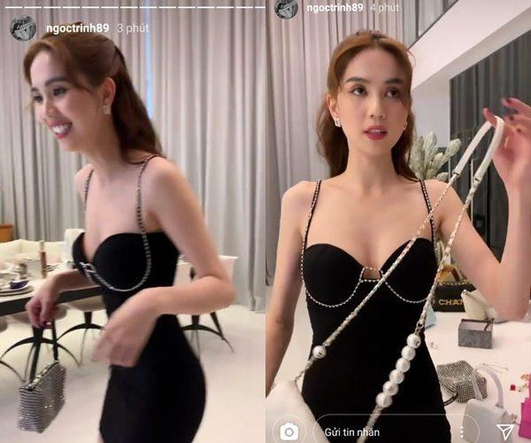 Sau ảnh nude, Ngọc Trinh tiếp tục thiêu đốt mạng xã hội với clip mặc nội y ren mỏng tang-4