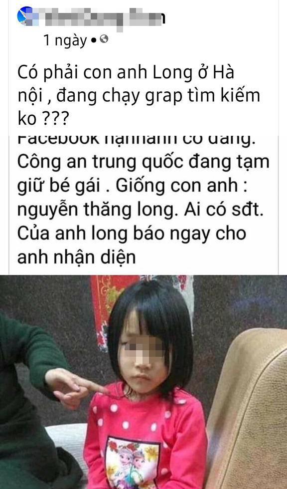Vụ bé gái Hà Nội mất tích 4 năm chưa tìm thấy: Người cha thêm rối bời vì bị quấy rầy bởi hình ảnh bé gái từ Trung Quốc-1