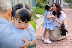 Hoa hậu Đặng Thu Thảo 'rụng tim' vì một câu nói của ái nữ 2 tuổi