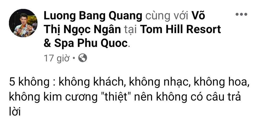 Lương Bằng Quang thú nhận lý do khiến Ngân 98 từ chối lời cầu hôn-1