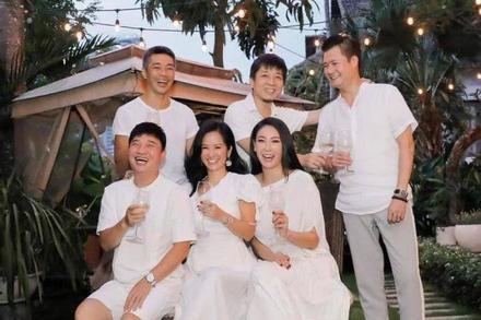 Hoa hậu Hà Kiều Anh, ca sĩ Quang Linh, Quang Dũng mở tiệc mừng Hồng Nhung trở về