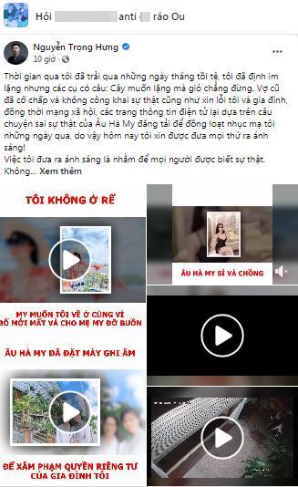 Phản dame Facebook chưa đủ, Trọng Hưng vào hẳn nhóm anti Hà My update bằng chứng tố vợ cũ-5