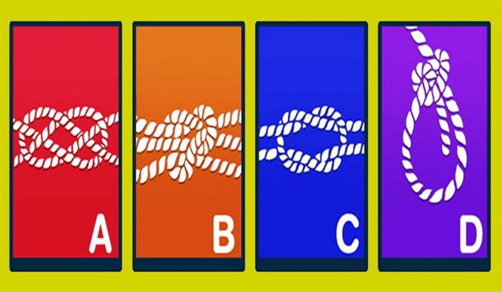 Nút thắt nào chặt nhất? Câu trả lời tiết lộ bạn là người khó đoán, tốt bụng hay sôi nổi?-1