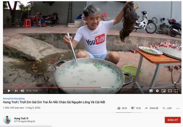 Hay tin Hưng Vlog bị phạt 7,5 triệu đồng, netizen chỉ ra loạt kênh YouTube cũng ăn gà nguyên lông phản cảm-1