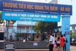 Sập tường trước cổng trường ở Nghệ An, đè chết học sinh lớp 5-3