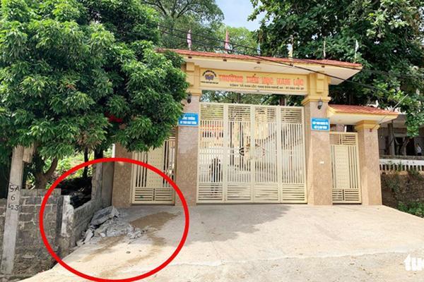 Sập tường trước cổng trường ở Nghệ An, đè chết học sinh lớp 5-1