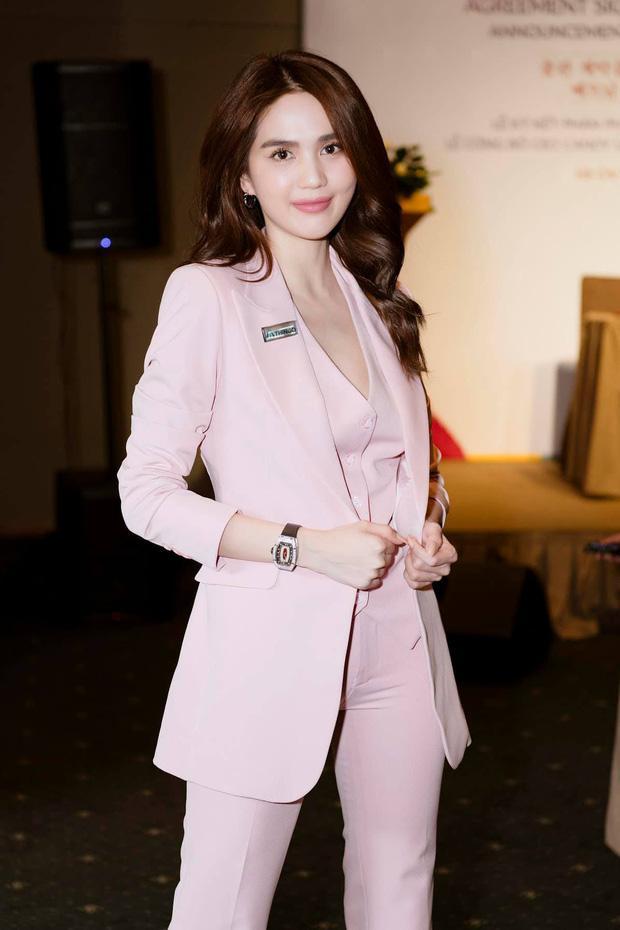 Ngọc Trinh đeo đồng hồ 4 tỷ đồng - Diệp Lâm Anh khoe body nuột nà với đầm xẻ-1