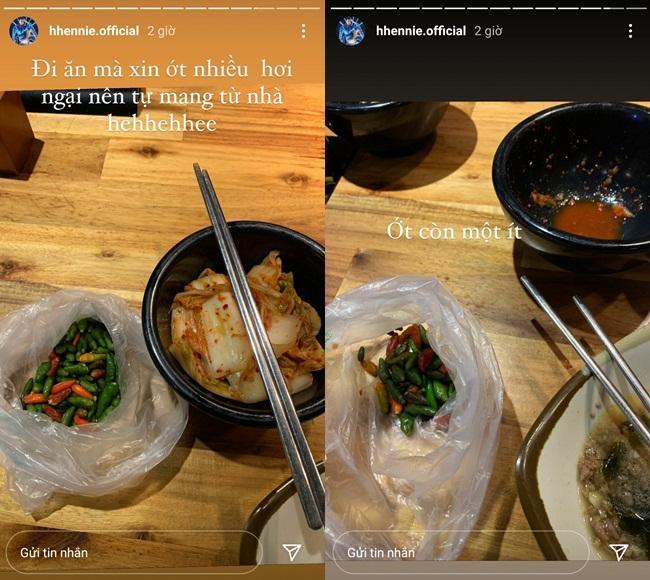 Hú hồn HHen Niê: Đi nhà hàng sang chảnh nhưng thủ sẵn bịch ớt từ nhà-1
