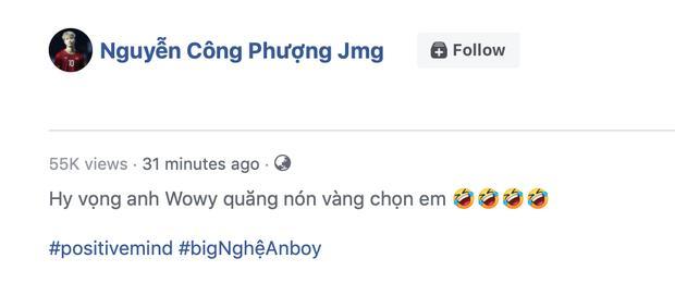 Công Phượng bắn rap fail theo phong cách Nghệ An, Wowy có động thái bất ngờ sau khi được tag-1