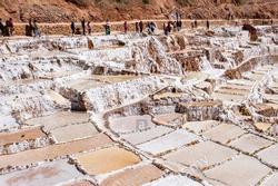 Mỏ muối cổ đại nhìn như ruộng bậc thang ở Peru