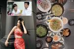 Chiều con gái như bố Hoàng Thùy Linh, nấu cho cả mâm cỗ gửi vào Sài Gòn
