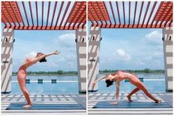 Mới ngày nào còn ngã nhào giờ đây Chi Pu trình diễn yoga múa điêu luyện