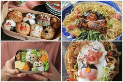 Bà mẹ Nhật Bản nổi khắp 'cõi mạng' nhờ thích sáng tạo cơm hộp bento cho con