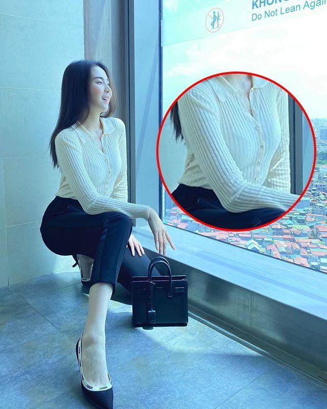 Khéo mặc như Mai Ngọc cũng để viền nội y lấp ló, chị em diện áo mỏng manh phải cẩn thận!-5