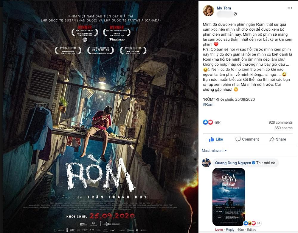 Mỹ Tâm kêu gọi fan xem phim Ròm lại còn hứa hẹn Coi chừng gặp nhau-4