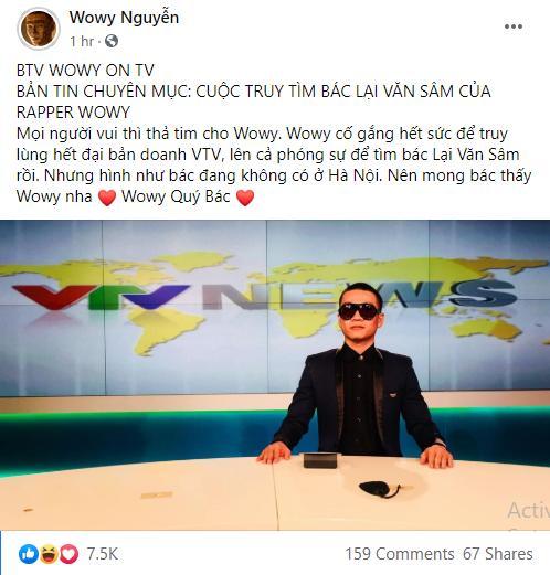 Không bỏ cuộc, Wowy tiếp tục hành trình truy tìm idol Lại Văn Sâm khiến fan phấn khích-2