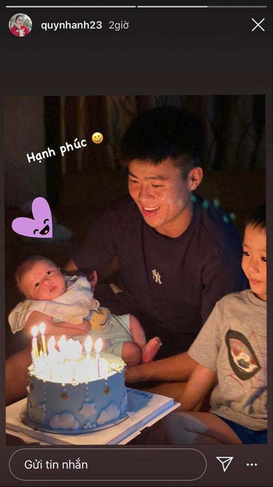 Đỗ Duy Mạnh - Quỳnh Anh khoe ảnh tiệc đầy tháng ấm áp của con trai-2