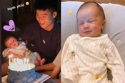 Đỗ Duy Mạnh - Quỳnh Anh khoe ảnh tiệc đầy tháng ấm áp của con trai